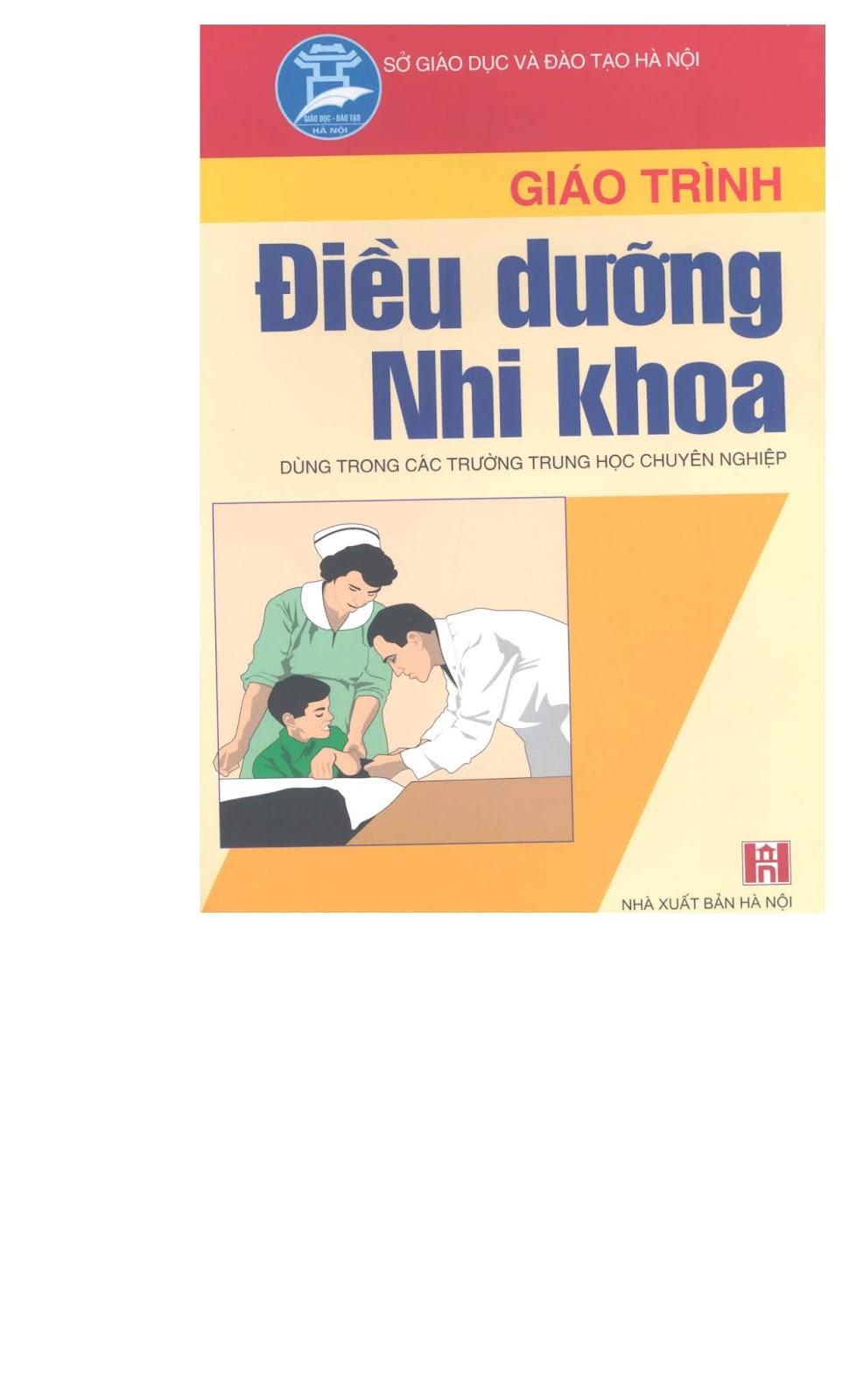 Giáo trình điều dưỡng Nhi khoa – NXB Hà Nội 2005