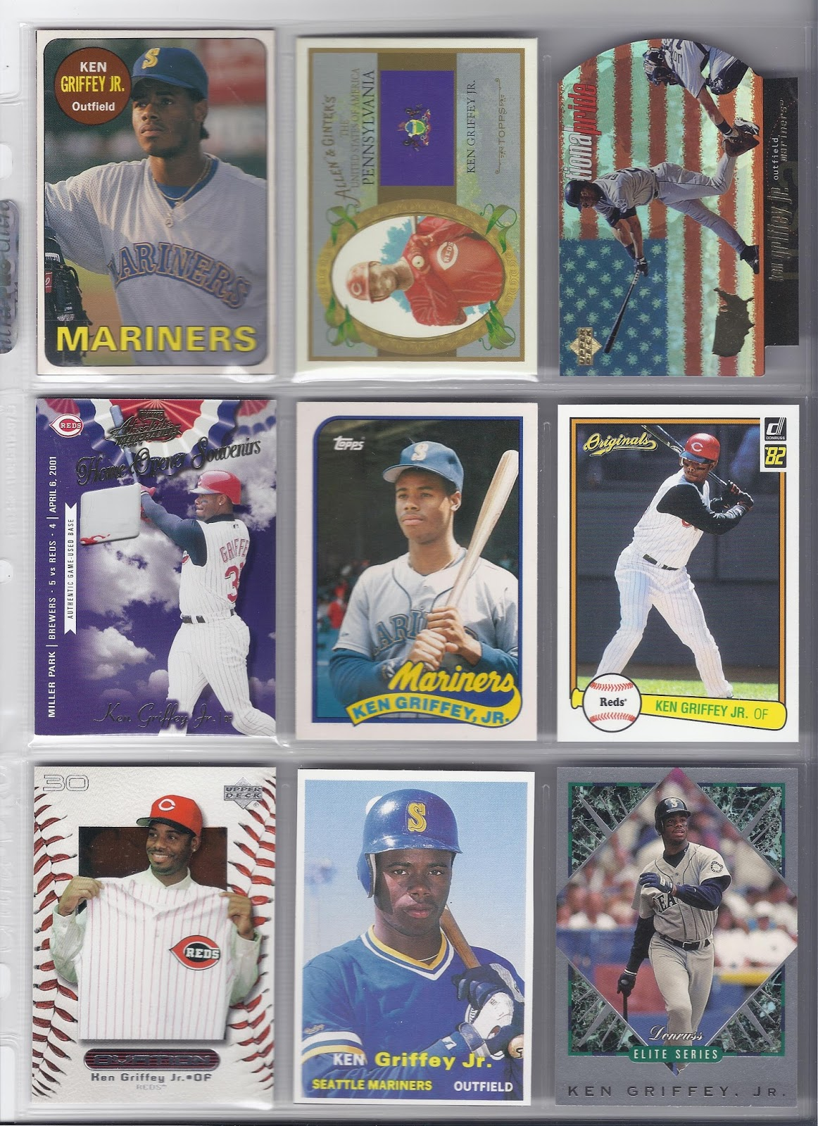 240c8f9107 The Junior Junkie: the Baseball Cards of Ken Griffey, Jr. and Beyond ...