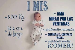 desarrollo del bebe - 1 mes