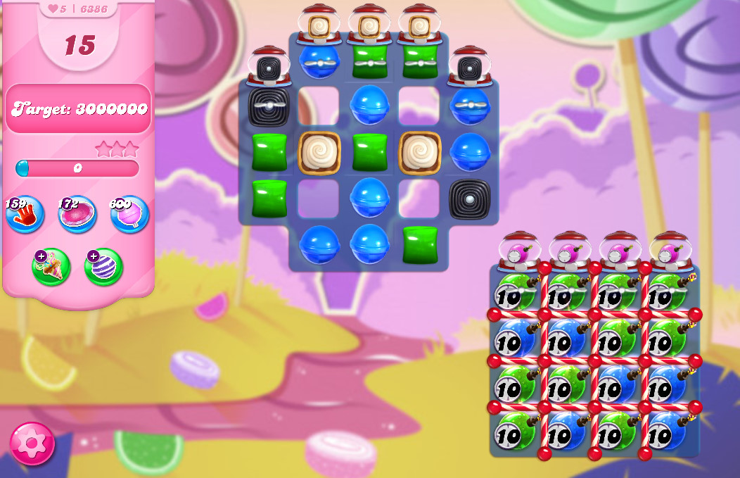 Candy Crush Saga level 6386
