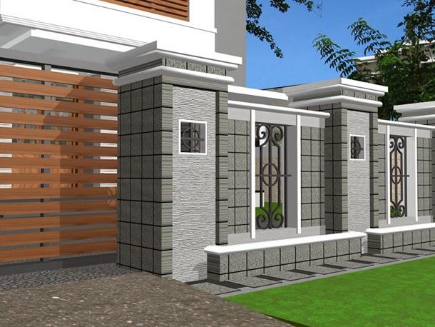 Desain Pagar Rumah  UD AURELIA SANJAYA devisi Solo Area