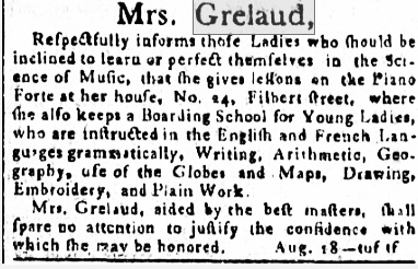 Quilt 1812: War & Piecing: Madame Grelaud's Female Seminary