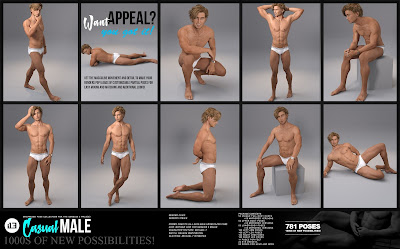 i13 Casual Male Pose Collection for the Genesis 3 Male