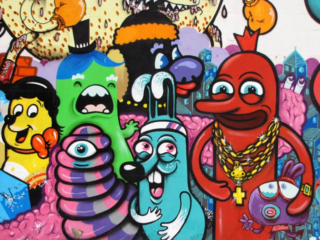 graffiti cartoon characters