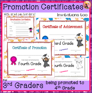 3rd Grade Certificates End of year