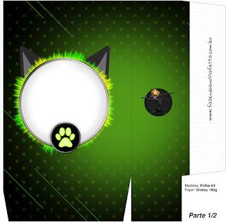 Cajas de Cat Noir para imprimir gratis.