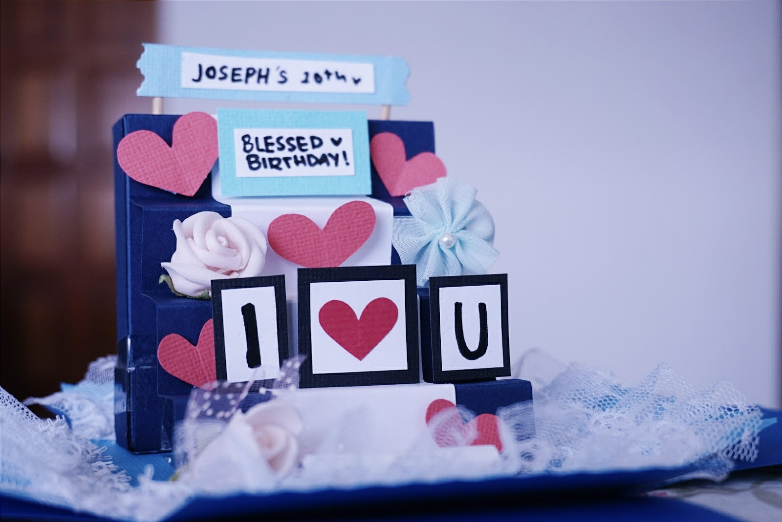 Braysels Diary How To Make A Staircase Explosion Box Card Tutorial