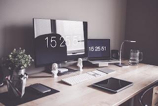 secunda, timp, clipa, picjumbo, computer, birou