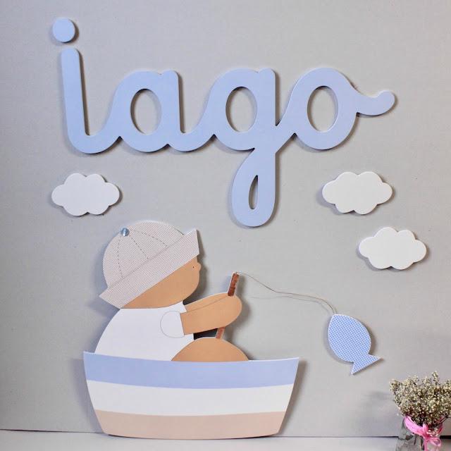 SILUETAS infantiles para la pared , decoración infantil personalizada.