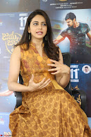 Rakul Preet Singh smiling Beautyin Brown Deep neck Sleeveless Gown at her interview 2.8.17 ~  Exclusive Celebrities Galleries 103.JPG