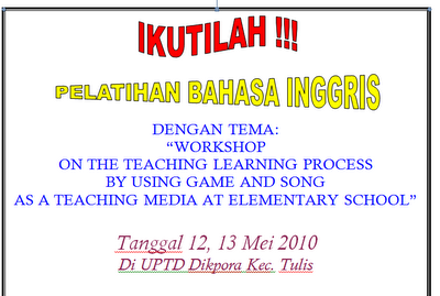 Workshop For English teacher at elementary school