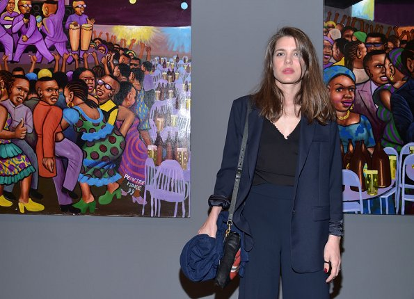 "Charlotte Casiraghi,Clotilde Courau and Melita Toscan du Plantier attend ""Art Afrique, Le Nouvel Atelier"" Exhibition Opening at Fondation Louis Vuitton in Paris"