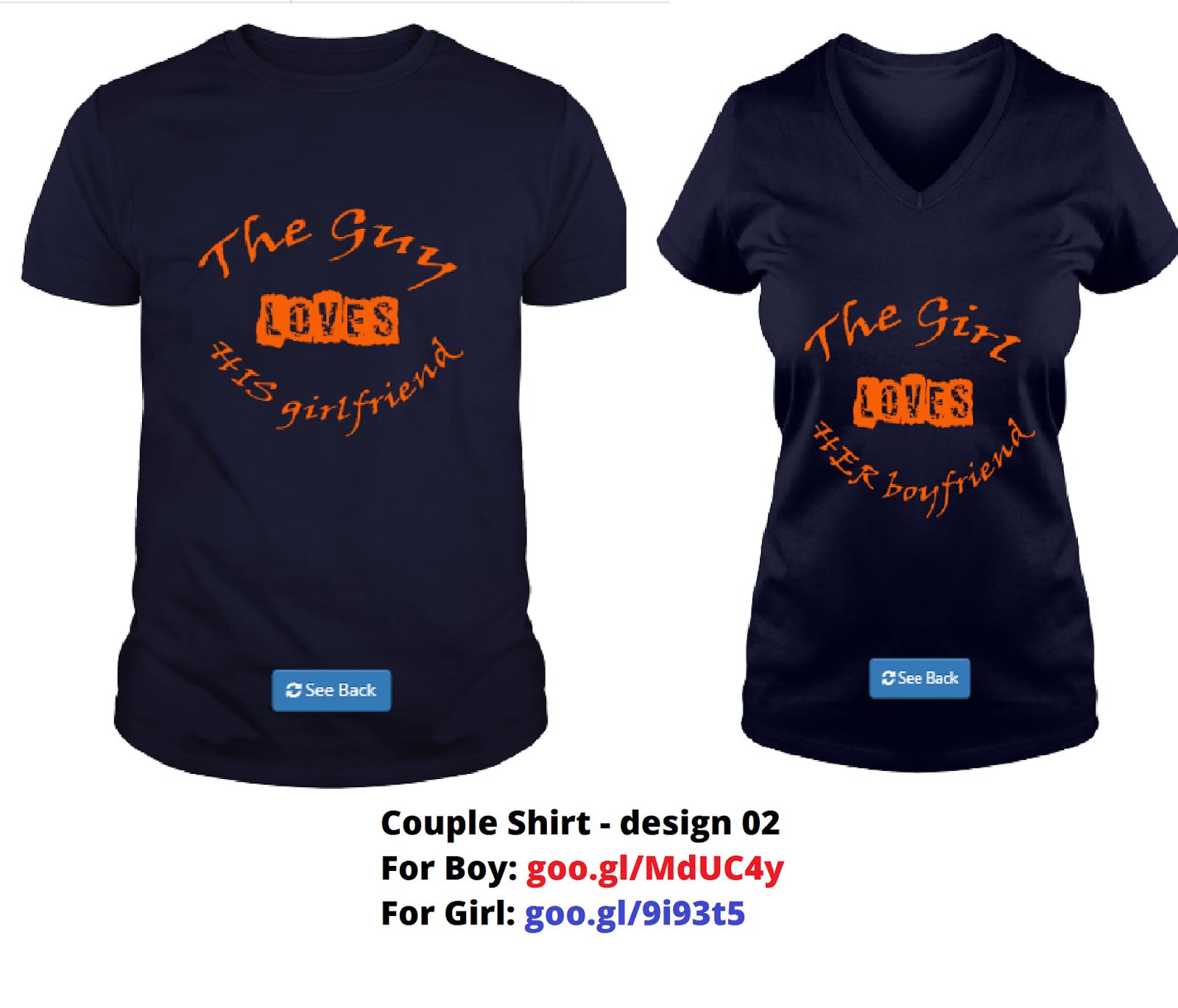 Cartoon Couple Design Tees Shirts Couple Tee Tops T Shirt: 100 Love Couple T Shirts Design