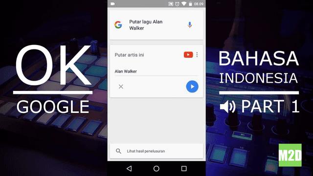 Perintah suara OK Google