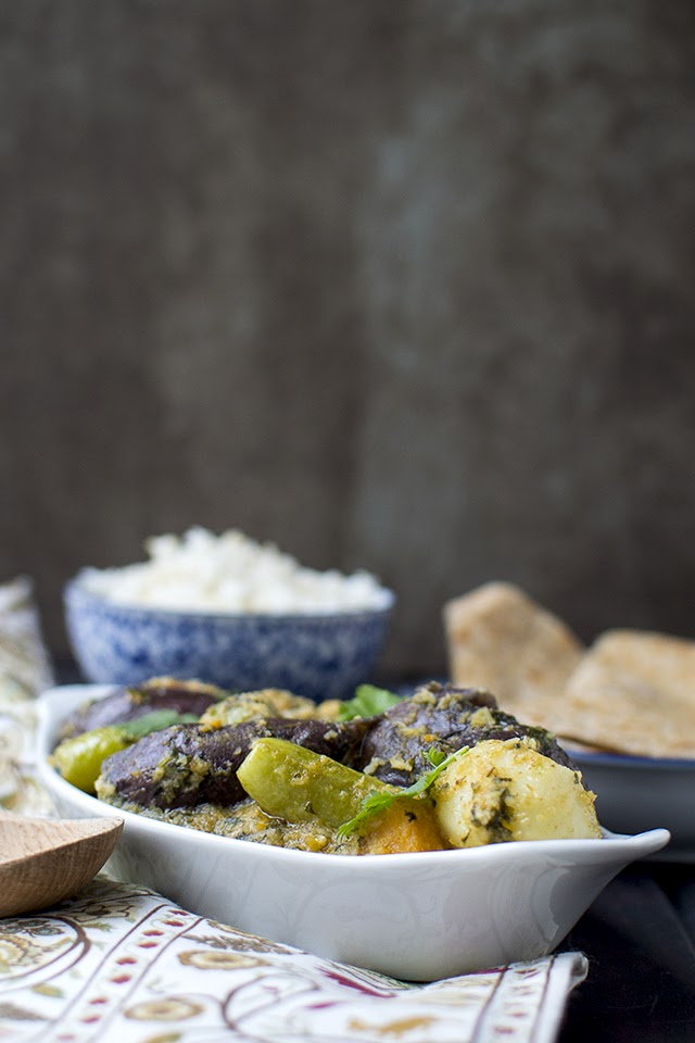 Gujarati Stuffed Mixed Vegetable Curry