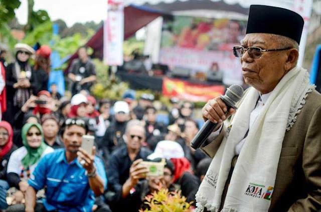 Prabowo Rajin ke Pesantren, Ma'ruf Amin: Saya Didukung Semua Kiai