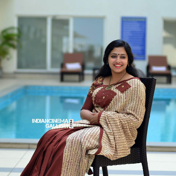 Anu Sithara latest photos in saree from Captain movie promo