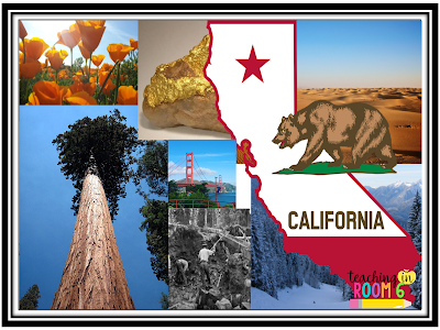 Students use pictures from google search to create a state collage for the 50 state postcard exchange page.