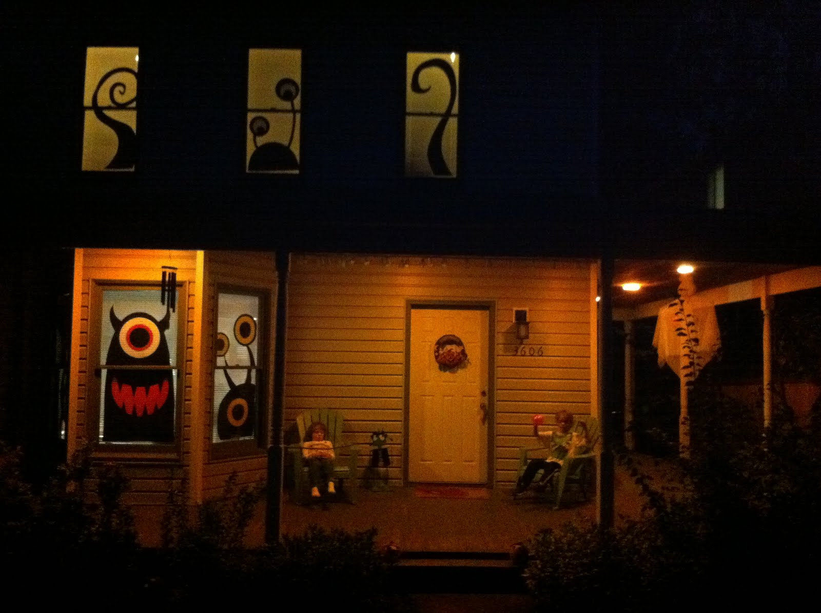 This Year's Halloween Window Decorations