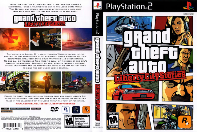 Capa GTA Liberty City Stories PS2