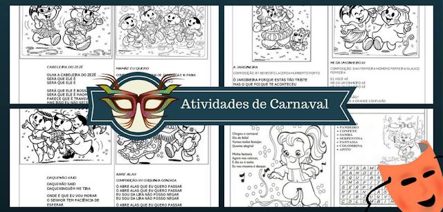 Confira Diversas atividades de carnaval de escrita, palavras cruzadas, caça-palavras, atividades de carnaval de Escrita e mais.