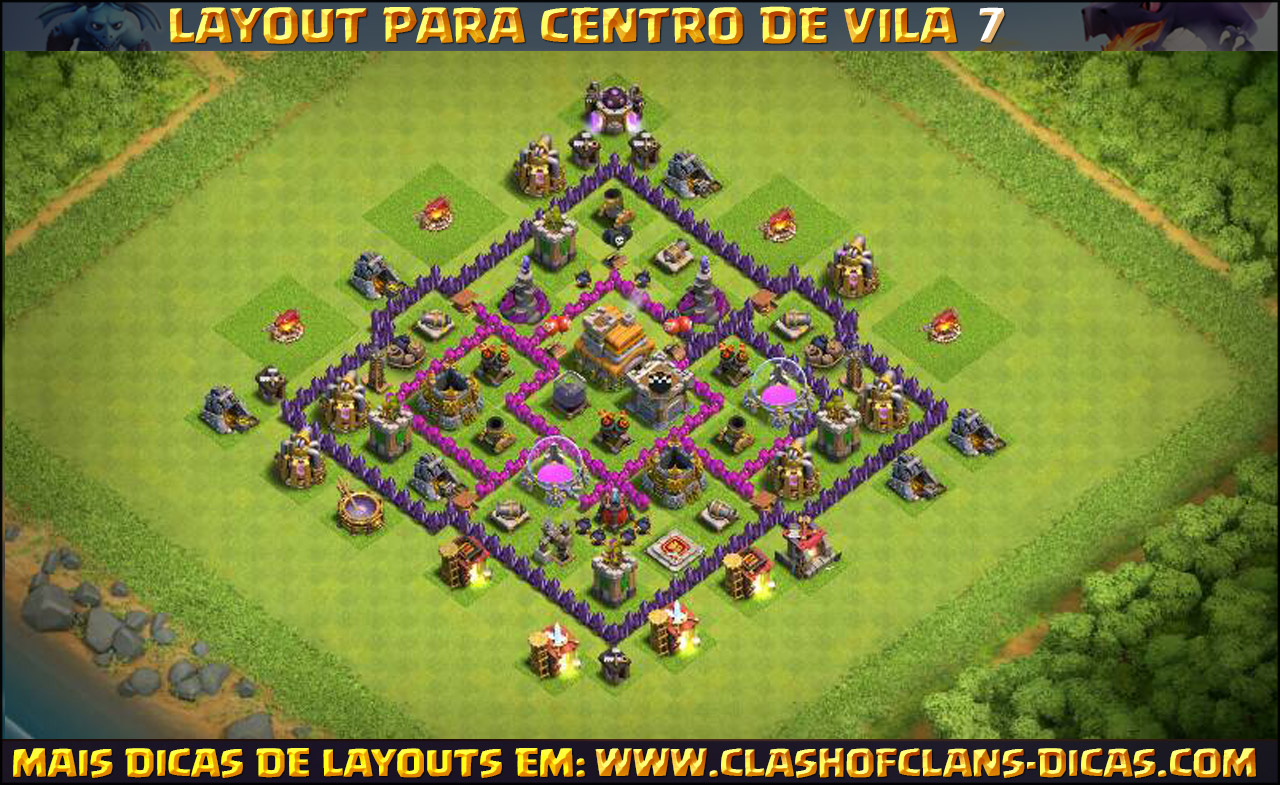 Layouts de CV7 para Clash of Clans - Clash of Clans Dicas