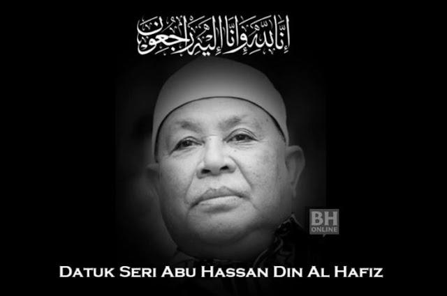 Datuk Seri Abu Hassan meninggal dunia pagi tadi