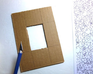 Coloring photo frame