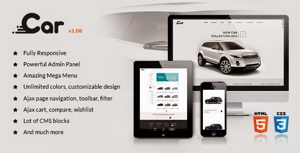 car shop responsive magento theme