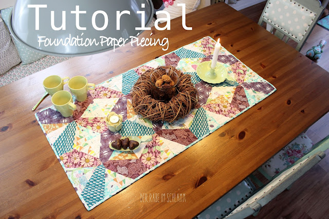 Tutorial, Der Rabe im Schlamm, FPP, Foundation Paper Piecing
