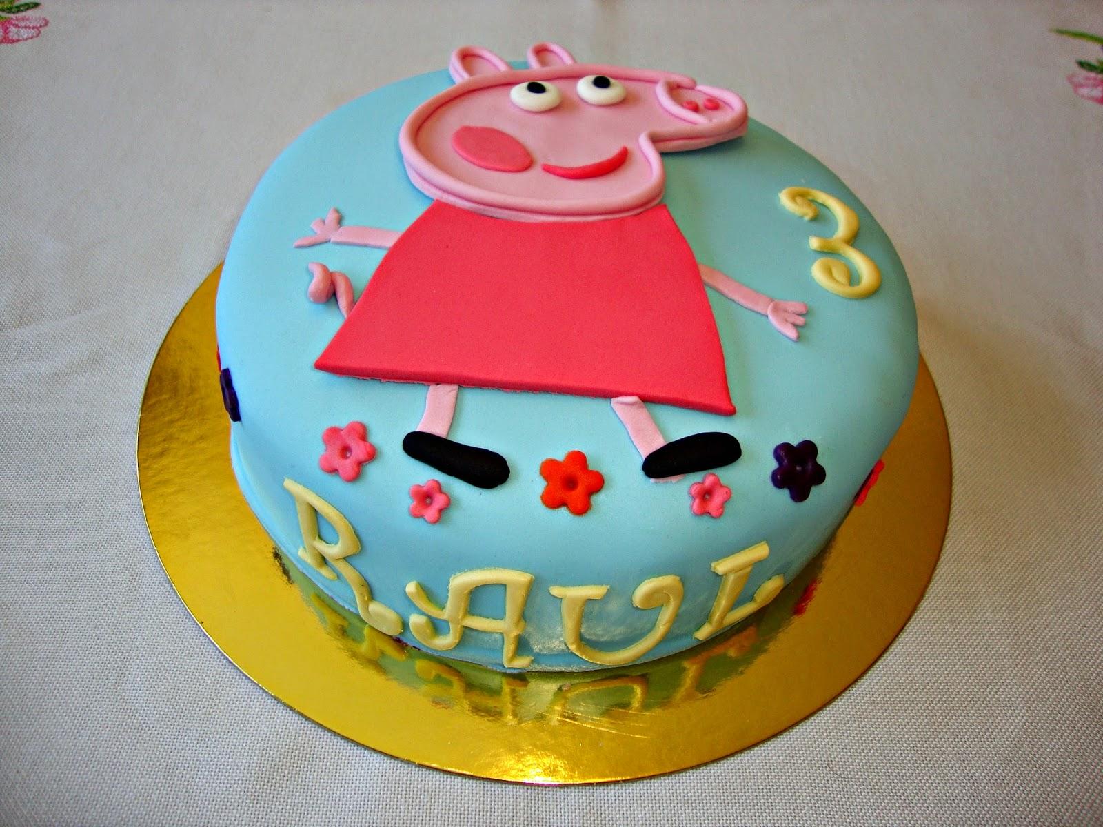 Tarta Peppa Pig plana
