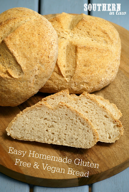 Easy Homemade Vegan and Gluten Free Bread Recipe - gluten free, egg free, dairy free, vegan, nut free, soy free, sugar free and a clean eating recipe