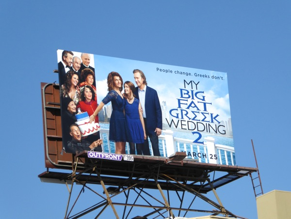 My Big Fat Greek Wedding 2 movie billboard