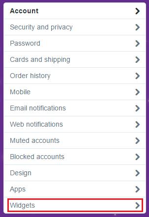 twitter add widget to blog website