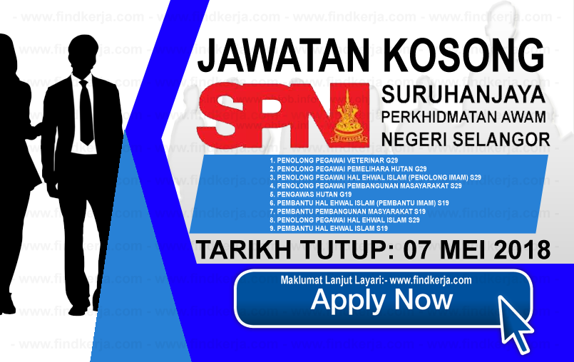 Jawatan Kerja Kosong Suruhanjaya Perkhidmatan Awam Negeri Selangor logo www.findkerja.com mei 2018