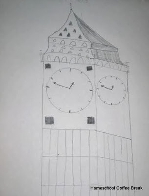 Big Ben on the Virtual Refrigerator art link-up hosted by Homeschool Coffee Break @ kympossibleblog.blogspot.com