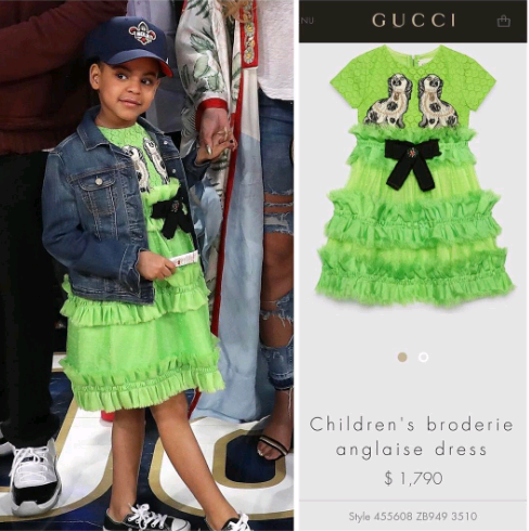 So Blue Ivy wore somebody's house rent to the 2017 NBA All Star Game (Photos)