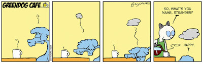 Happy, the blue poodle