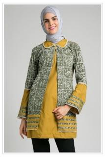 Gambar Atasan Batik Wanita Muslimah