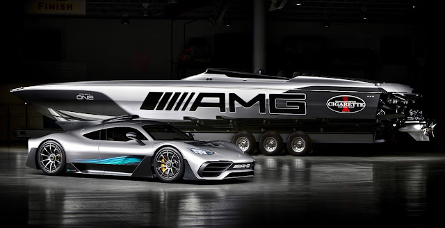 両方買うと5億円オーバー!?メルセデスAMGのハイパーカー「プロジェクトONE」にインスパイアされた高級ボートが登場!