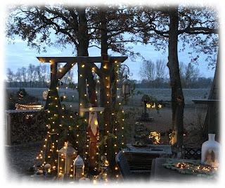 Weihnachtsbeleuchtung im Garten