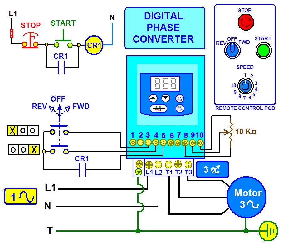 Coparoman  Convertidor De Fase Digital Para Motor Trif U00e1sico