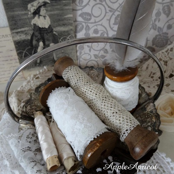 lace and thread spools by AppleApricot