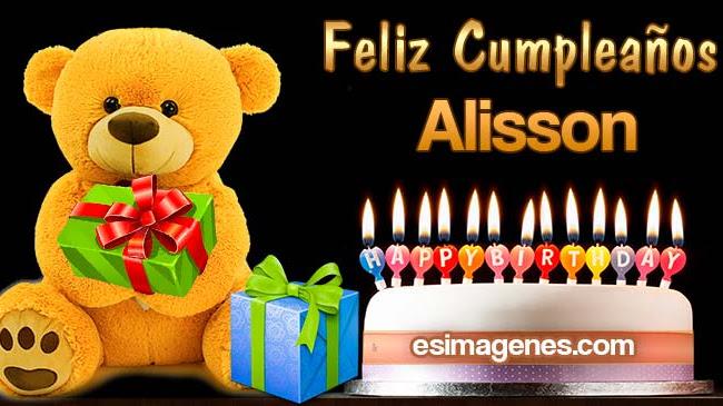 Feliz Cumpleaños Alisson