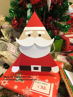 #CTMHVandra, Christmas, Santa, 3D, cricut, gifts, Christmas tree, presents,