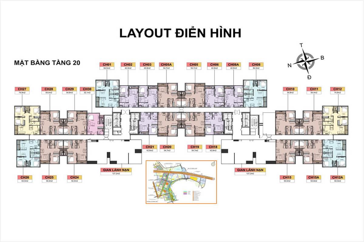 Tầng 20 Toà H3 Vincity Sportia