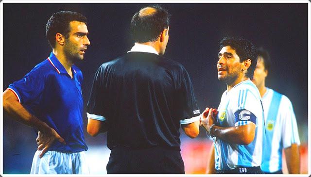 Bergomi Maradona Italy Argentina World Cup 1990
