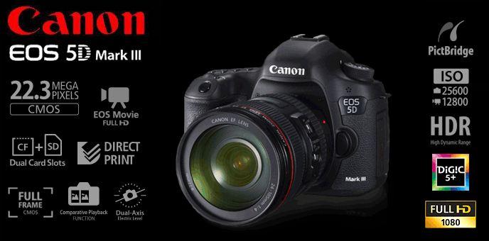 Harga dan Spesifikasi Kamera DSLR Canon 5D Mark 3  d8d6e51f6e