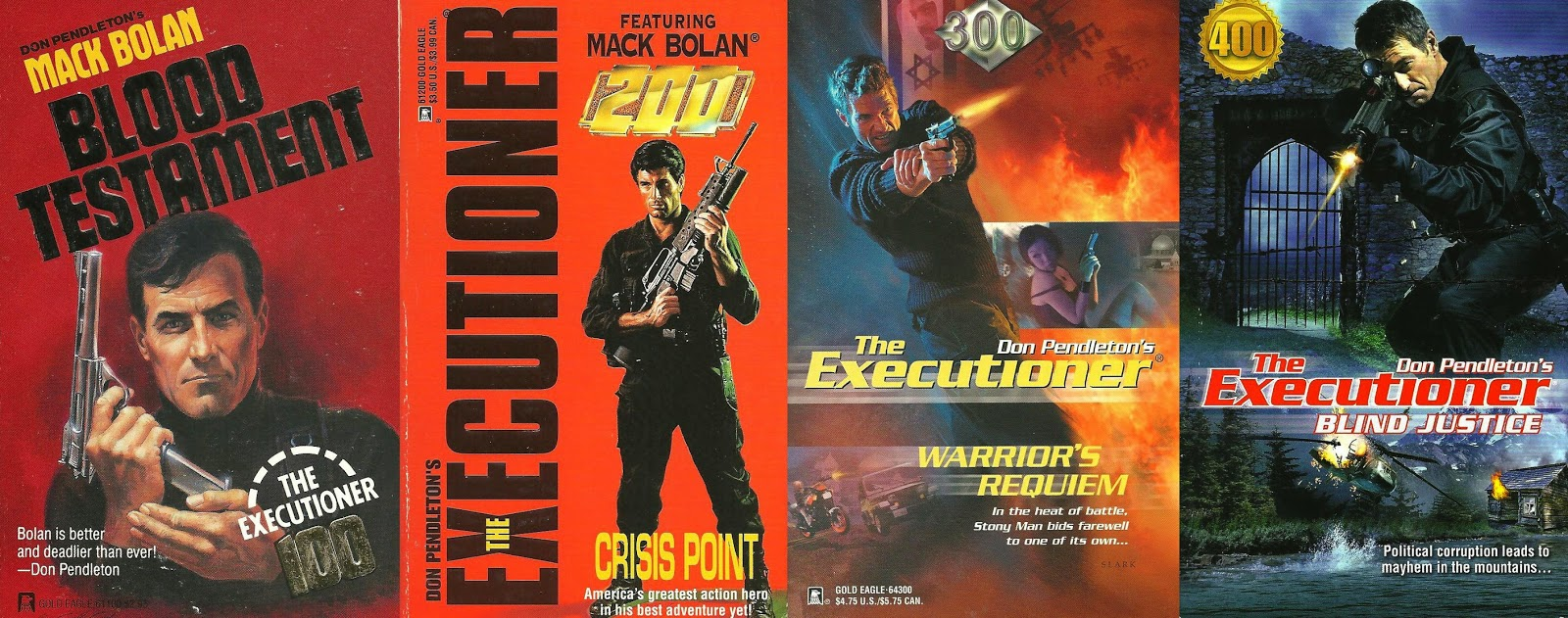 The Executioner #s 100, 200, 300 and 400