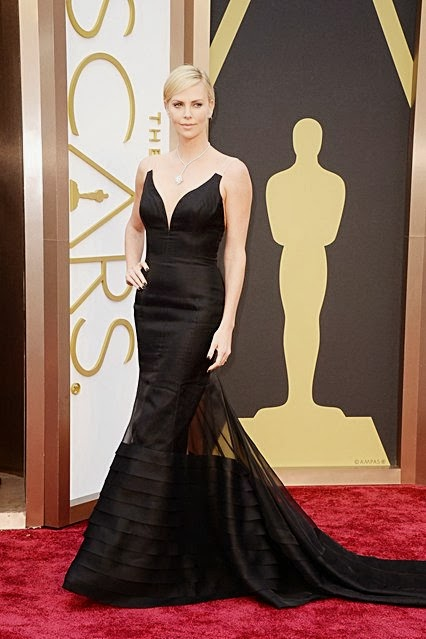 Charlize Theron Dior gown 2014 Oscars